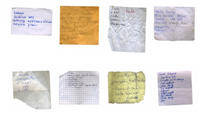 Collections, Shopping list ©Mathieu Roquigny